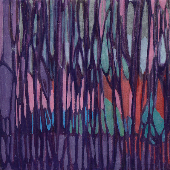 Colorweb Series No. 6: Plum, 6 x 6 inches, oil on canvas. SOLD. Available as a Giclée.