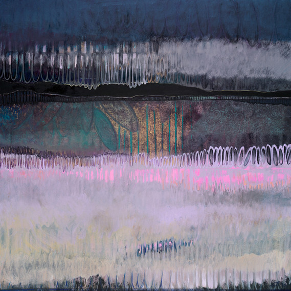 Cotton Candy, 36 x 36 inches, oil on canvas, 2014. SOLD. Available as a Giclée.
