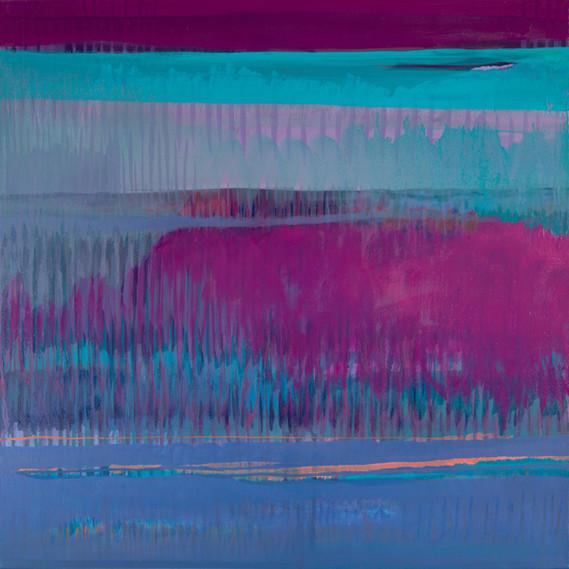 Savannah Sunset, 24 x 24 inches, oil on canvas, 2015. SOLD. Available as a Giclée.