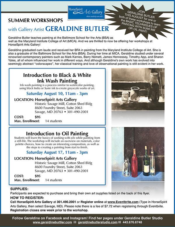 Geraldine Butler_Summer Workshops Flyer_