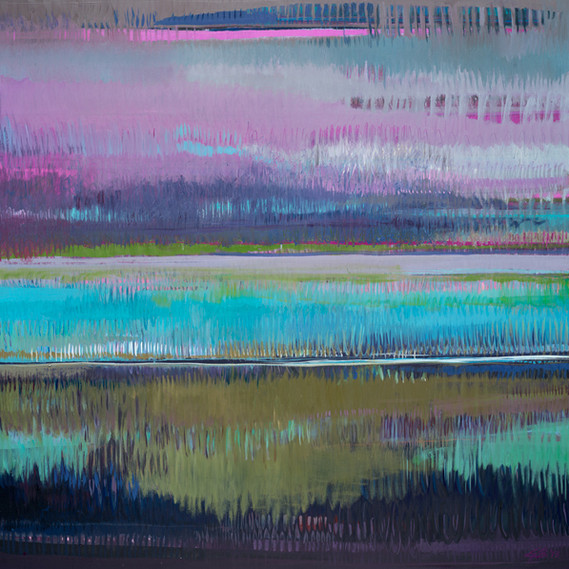Waterlilies, 36 x 36 inches, oil on canvas, 2014. SOLD. Available as a Giclée.