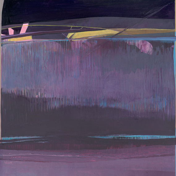 Beyond Violet Waters, 36 x 36 inches, oil on canvas, 2014. SOLD. Available as a Giclée.