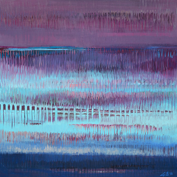 Turquoise Rain, 24 x 24 inches, oil on canvas, 2014. Available.