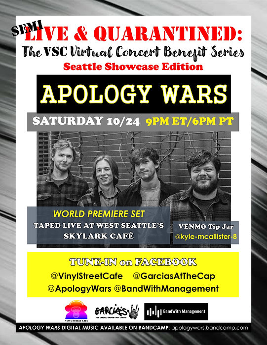 Live & Quarantined_APOLOGY WARS announce