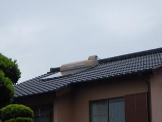 【熊本市】太陽熱利用温水器の修理です。