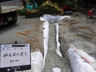 【山鹿市】雨水の水はけ改善!!