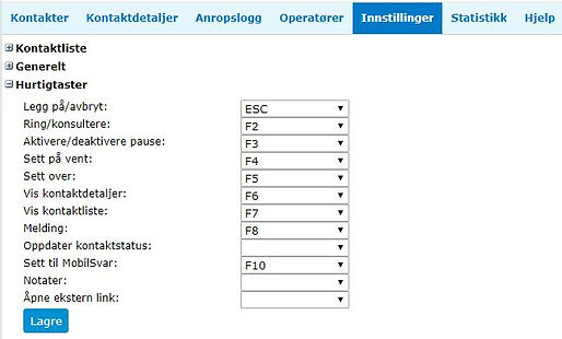 Sentralbord-Innstillinger-Hurtigtaster.J