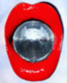 retrobsays its a disc ball inside red lips