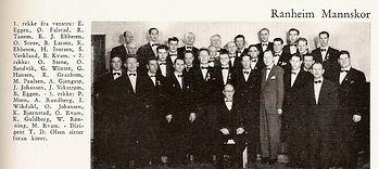 Ranheim Mannskor i 1956