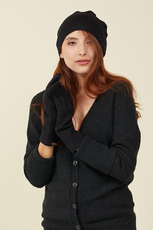 Black Merino Gloves with FIBREHEAT™