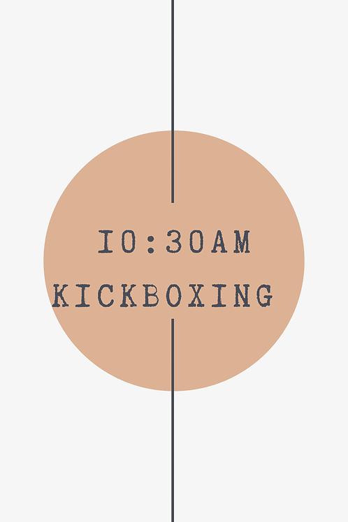 10:30 AM Kickboxing Class