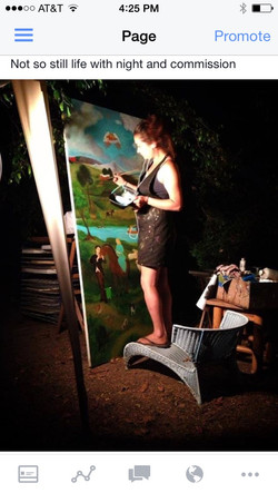 Night painting on the commission
