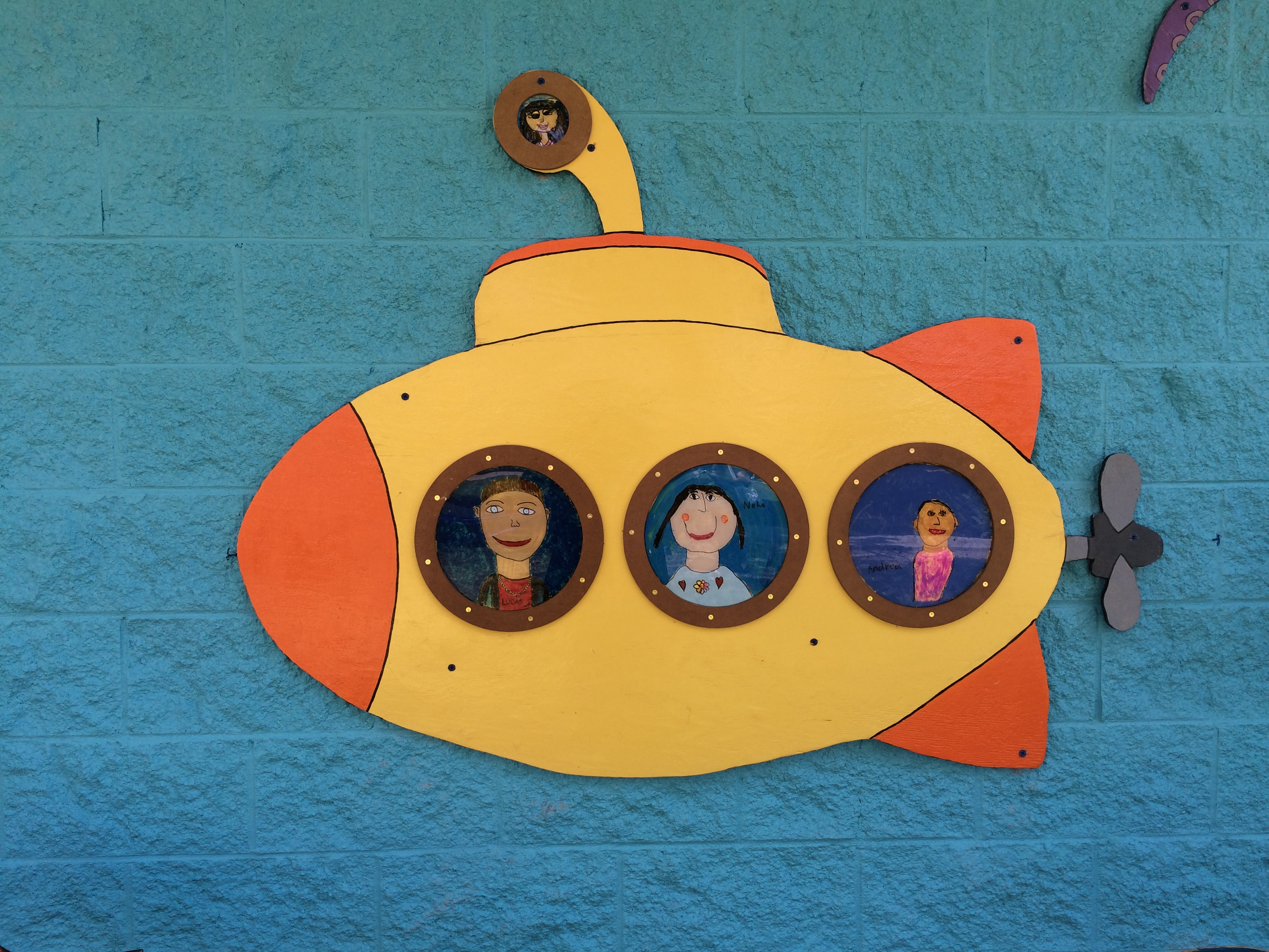 Submarines with student portraits