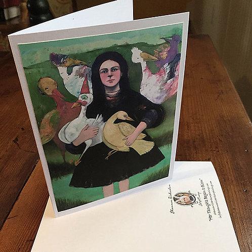 """""""The Flock"""" 5x7 Card"""