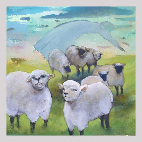 """Flight from the Flock""  Beautiful limited edition giclée 12x12"""