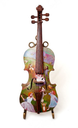 Hand painted violin