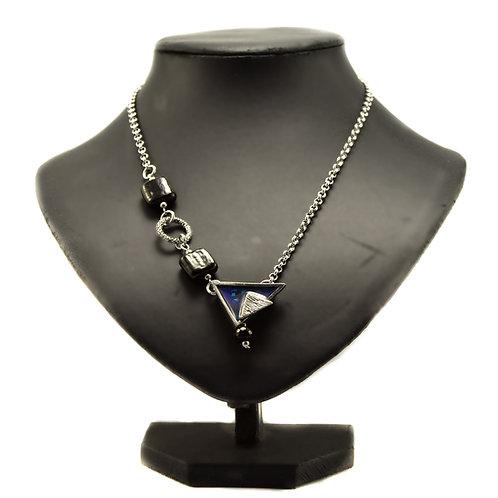 Collier Triangle Bleu
