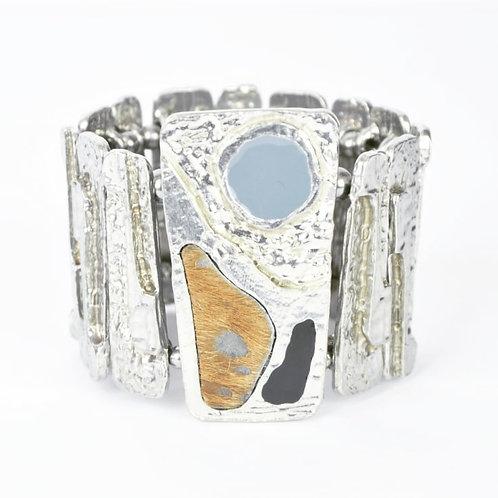 Bracelet Bleu Acier & Charbon