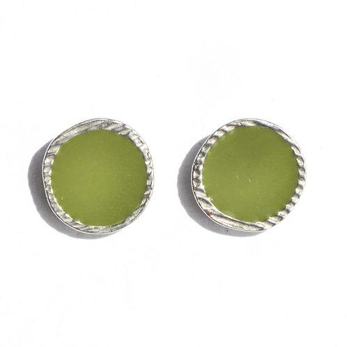 Boucles d'oreilles Vert Olive