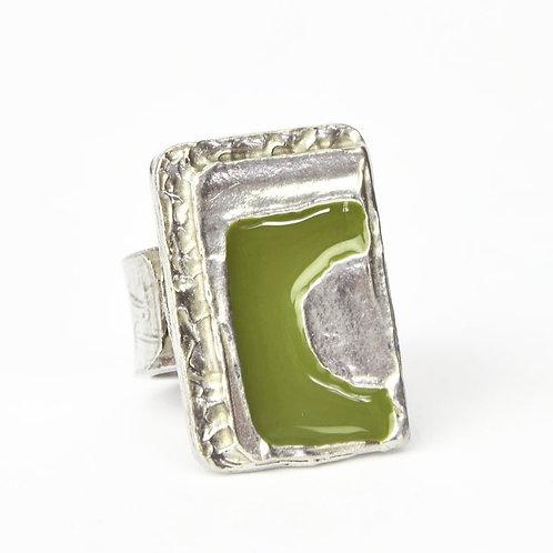 Bague Vert d'olive