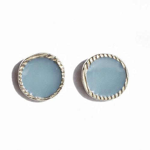 Boucles d'oreilles Bleu Acier