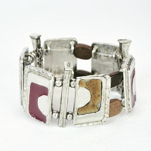 Bracelet Pourpre & Fourrure