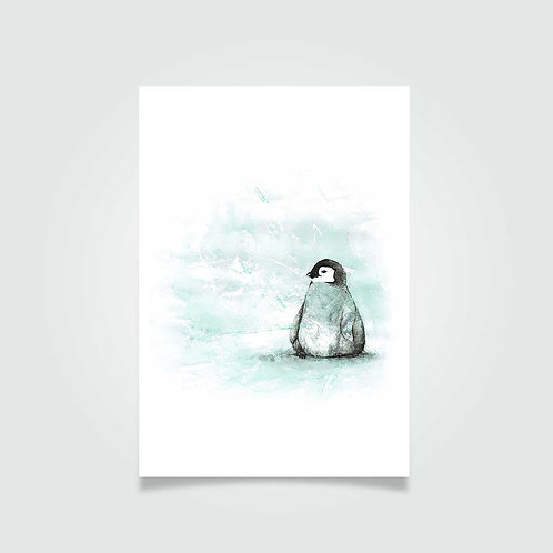 Pingvin i kulden