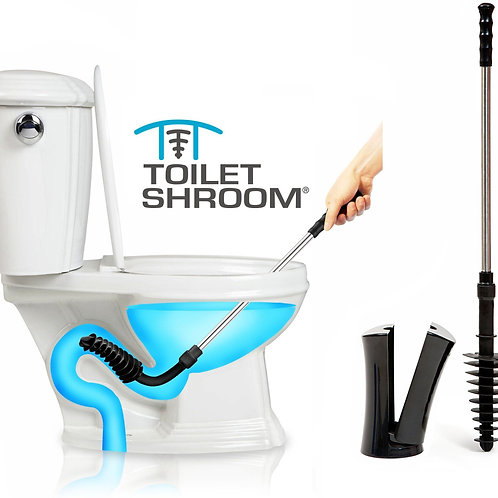 ToiletShroom® (Black) Toilet Plunger That Unclogs Toilets in Seconds