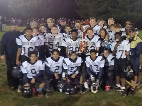 Crusaders Middle School Team wins second straight MDMSAC Championship