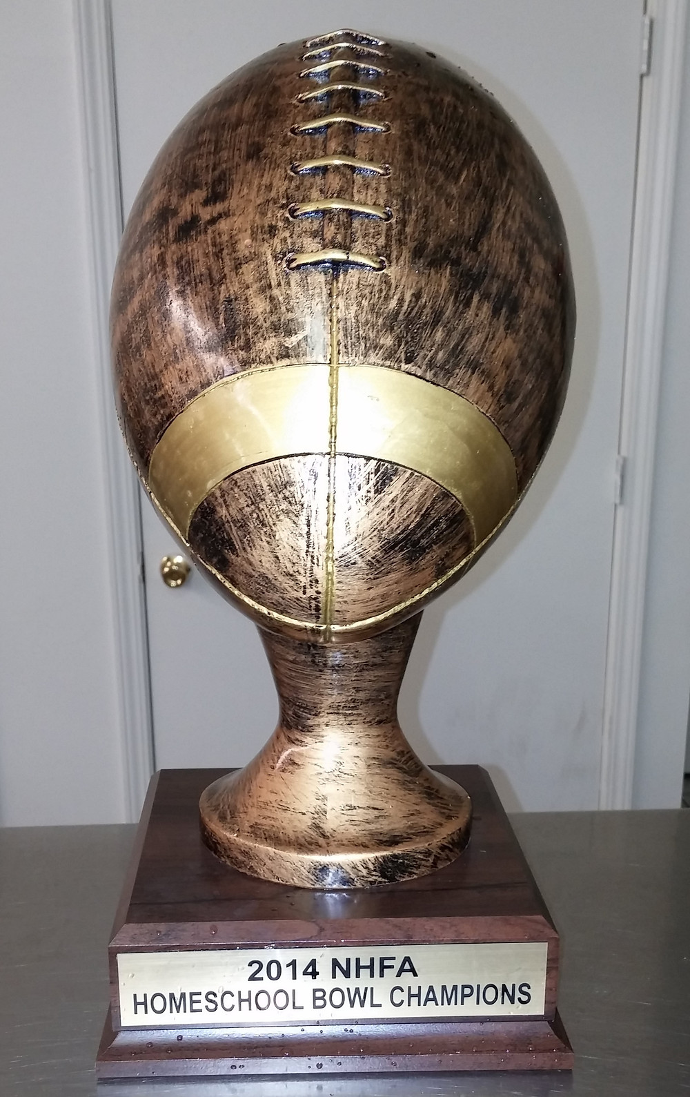 2014 National Homeschool Bowl Trophy