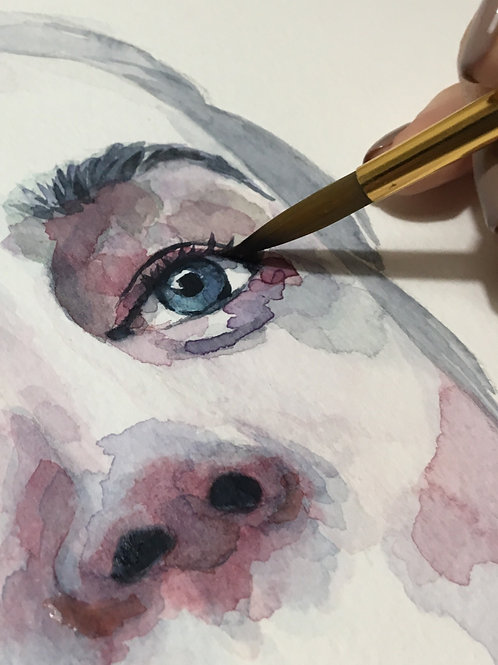 Watercolour for Intermediate (Facial Features) with Cassielelolea