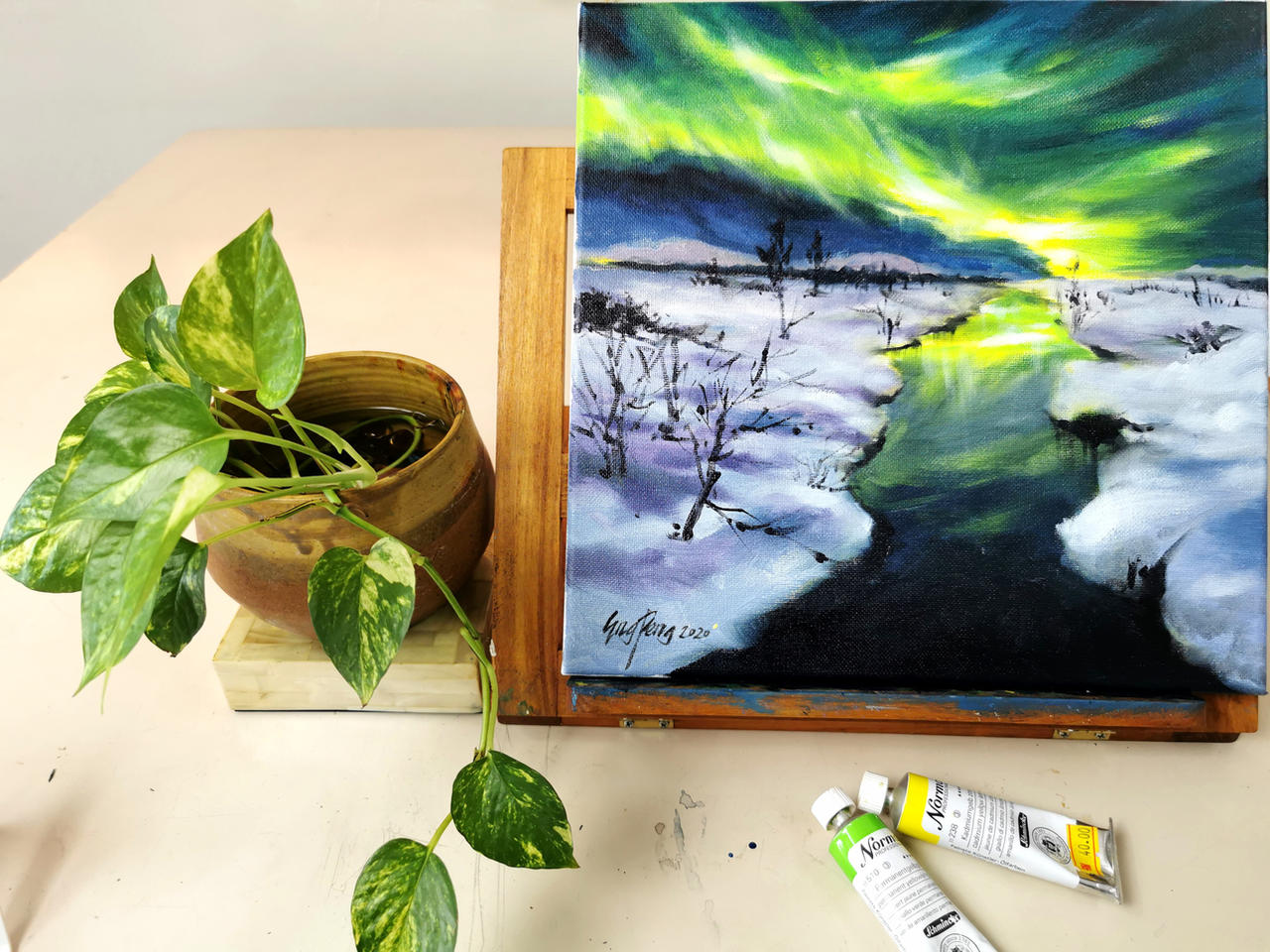 Aurora Borealis Oil Painting Course