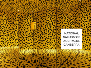 Travel to iconic cities and museums to view Yayoi Kusama's artworks