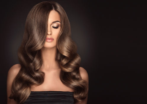 Long shiny luxurious healthy thick hair.