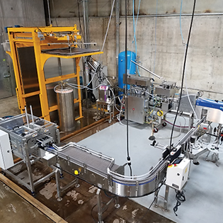 codi canning system, craft canning system, craft canning line, canning machine, conveyance, conveying, conveyor, can filling line