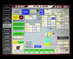 HMI for automated beer filling