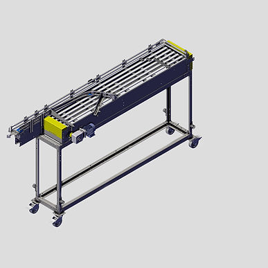 The Single Filer offers a way to semi-automate the process of moving mass can supply into single file. It is a great entry level option for those who aren't ready to invest in a full Depalletizer.