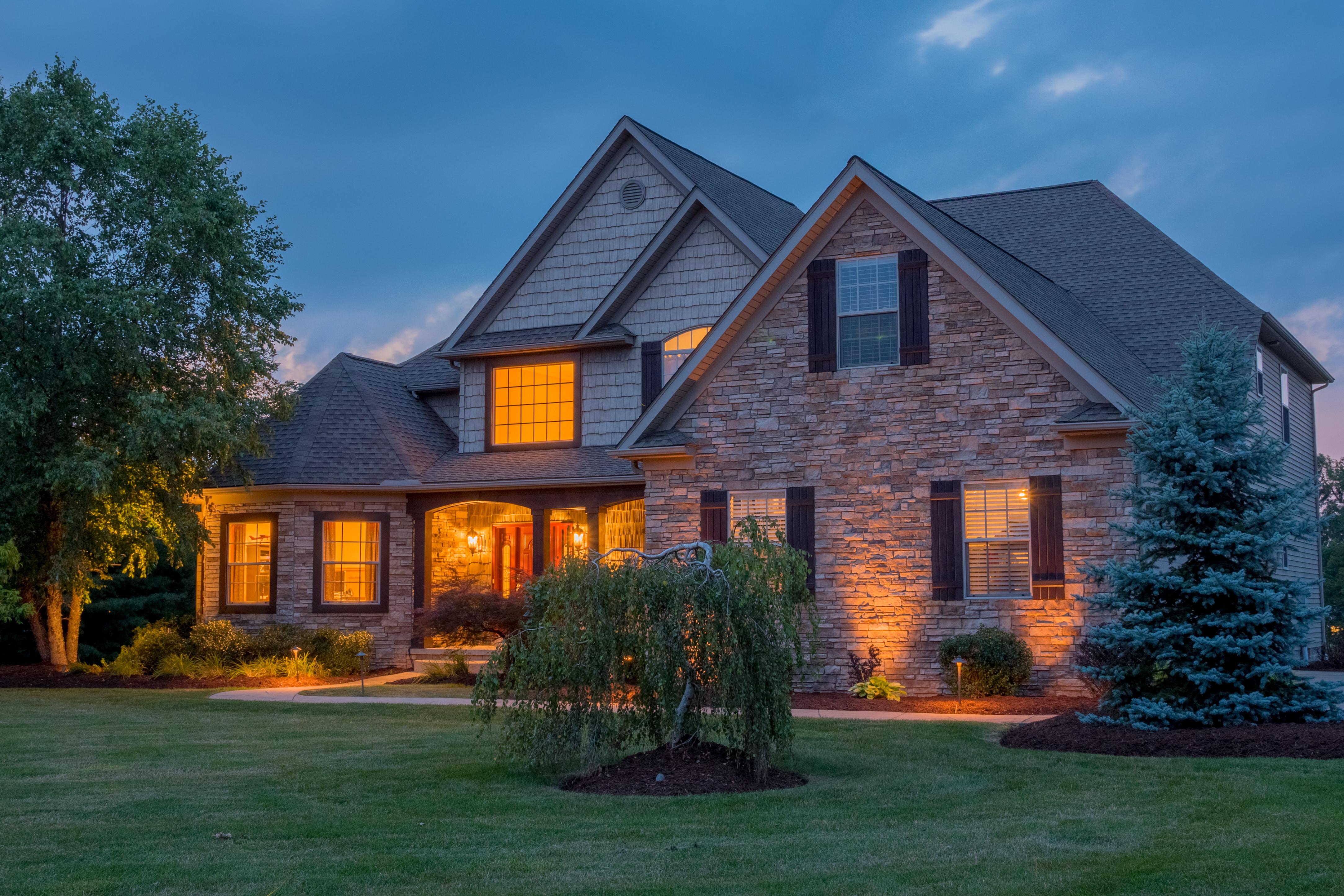 Twilight Exterior Real Estate