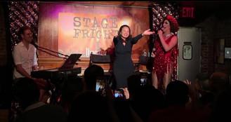 On stage with Fran Drescher