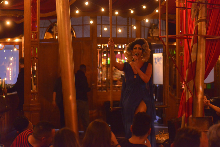 Marti at the Mirror Room