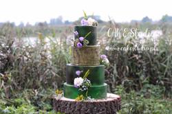 Leśny tort weselny