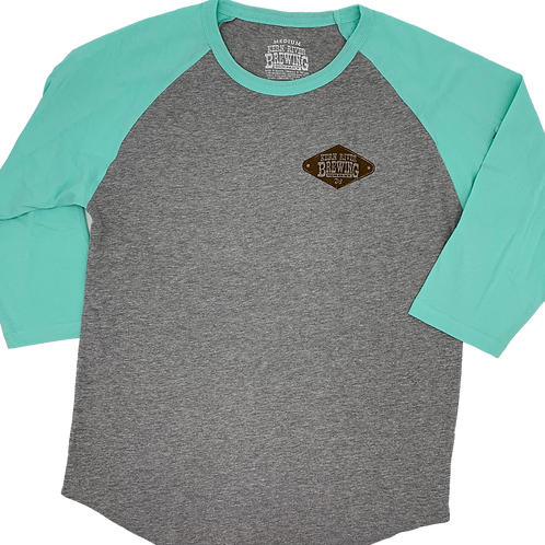 Teal/Grey Baseball Tee