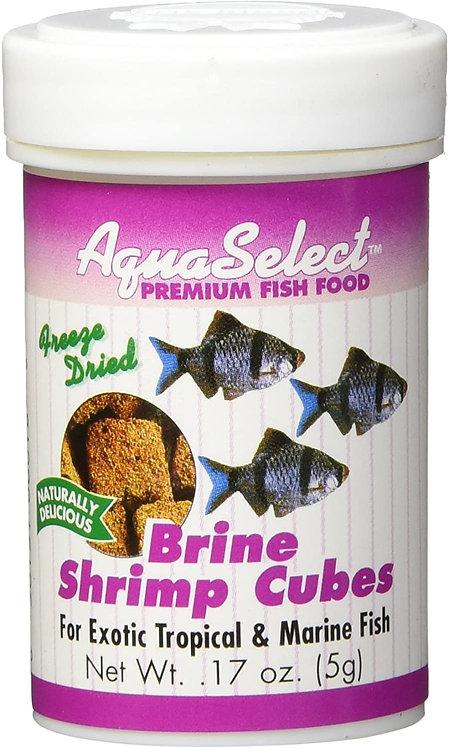 Aqua Select Brine Shrimp Cubes Premium Fish Food .17oz (5g)