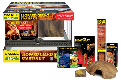 Exo Terra Leopard Gecko Started Kit- Small Low