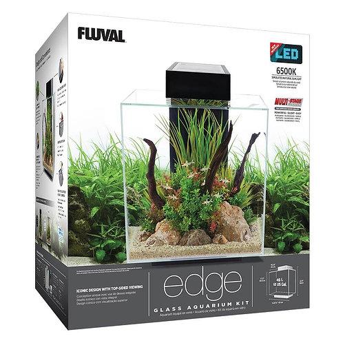 Fluval Edge Aquarium Kit Gloss Black 12 Gal