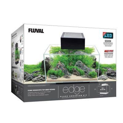 Fluval Edge Aquarium Kit Gloss Black 6 G