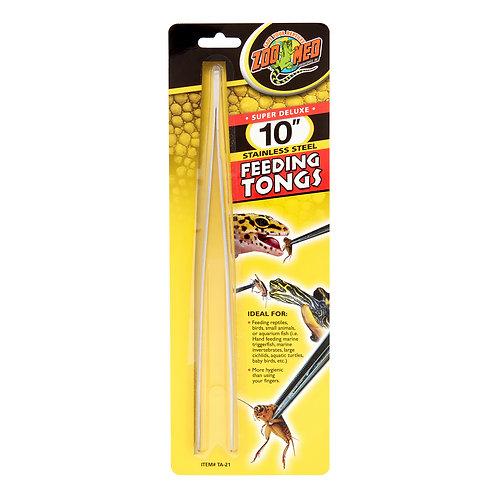 "Zoo Med Stainless Steel Feeding  Tongs 10"""