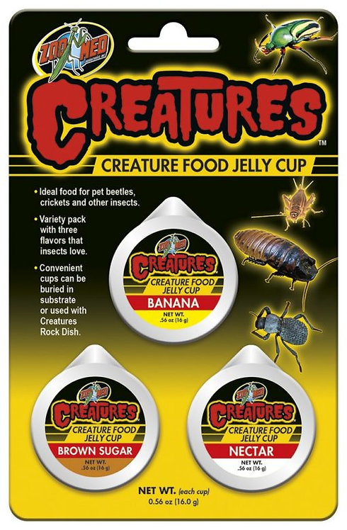 Zoo Med Creatures Food Jelly Cup 3 Cups