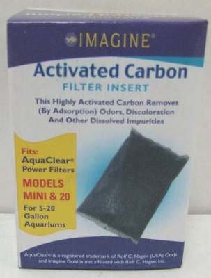 Imagine Activated Carbon Filter Insert Mini & 20 for 5-20 G