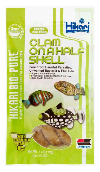 Hikari Bio-Pure  Frozen Clam On A Half Shell Flatpack 4oz